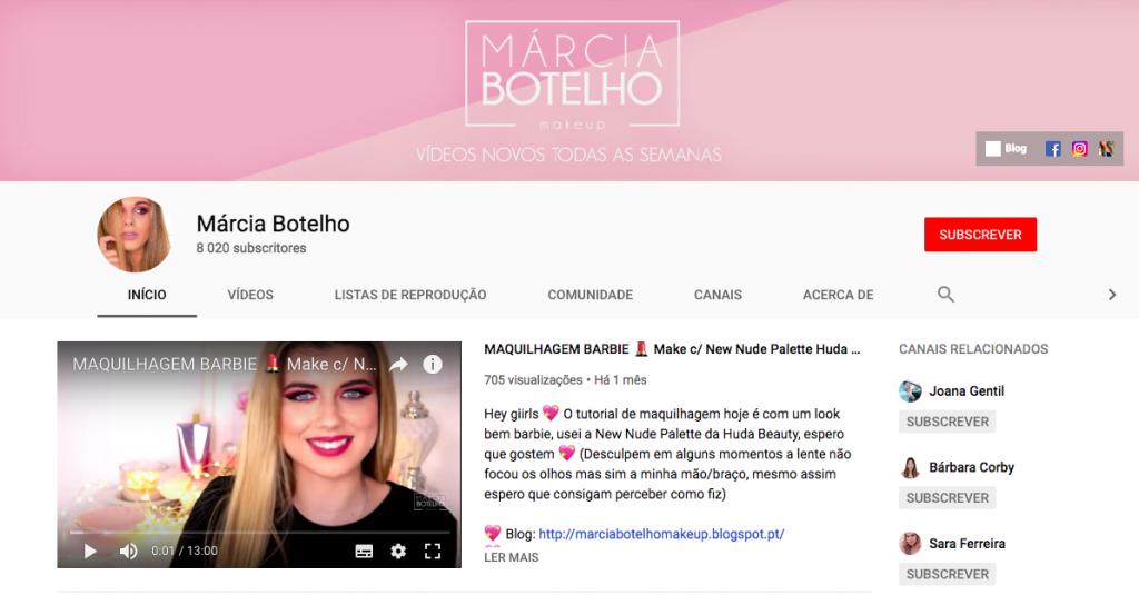 marcia botelho, youtube, blogger, maquilhagem